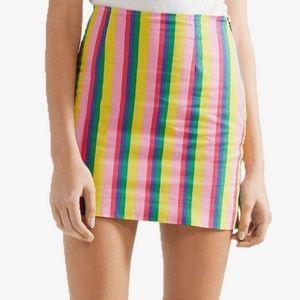 Staud panda mini skirt size 8 NWT